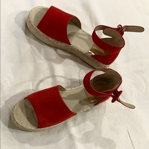 RED ESPADRILLE SHOES SIZE 8